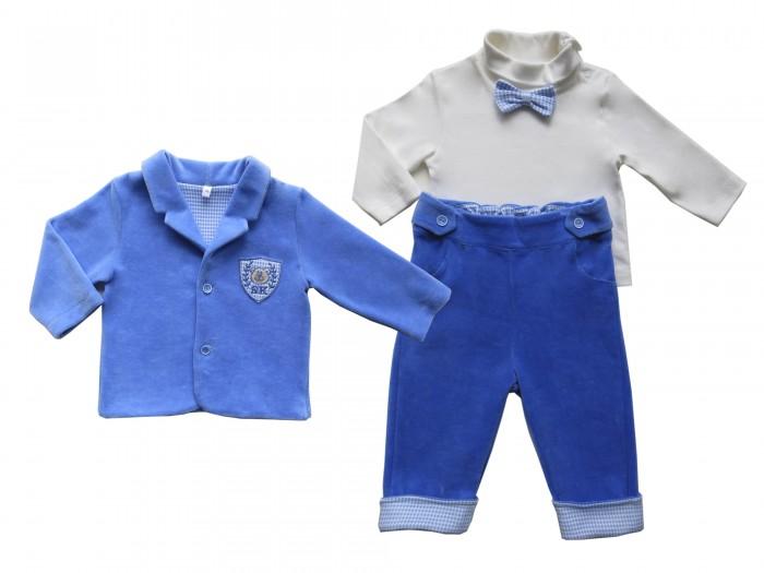 Soni Kids Комплект Мишка Джентельмен (водолазка, жакет и брюки)