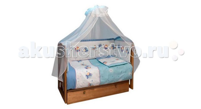 Бампер для кроватки Soni Kids Ласковое летоЛасковое летоОчень красивый высококачественный бампер в кроватку. Антиаллергенный наполнитель - холлофайбер. Размер: 360 х 44 см. Тип ткани : поплин Состав : 100% хлопок<br>
