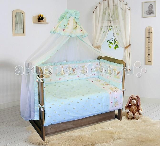 Постельное белье Soni Kids Зайчик-садовод (3 предмета)Зайчик-садовод (3 предмета)Комплект постельного белья в кроватку Зайчик-садовод Soni Kids выполнен из высококачественного антибактериального и гипоаллергенного 100% хлопка. Модель порадует заботливых родителей шелковистым, воздушным, хорошо пропускающим влагу материалом и красивым дизайном.   Материал: поплин (100% хлопок)  В комплекте: пододеяльник: 110 х 140 см наволочка: 40 х 60 см простынка на резинке: 150 х 90 см<br>