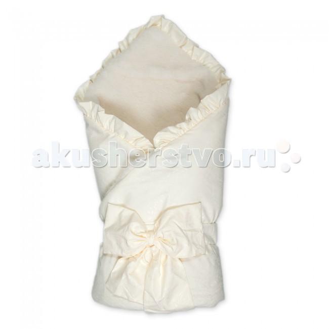 Сонный гномик Конверт-одеяло на выписку Ваниль с мехом