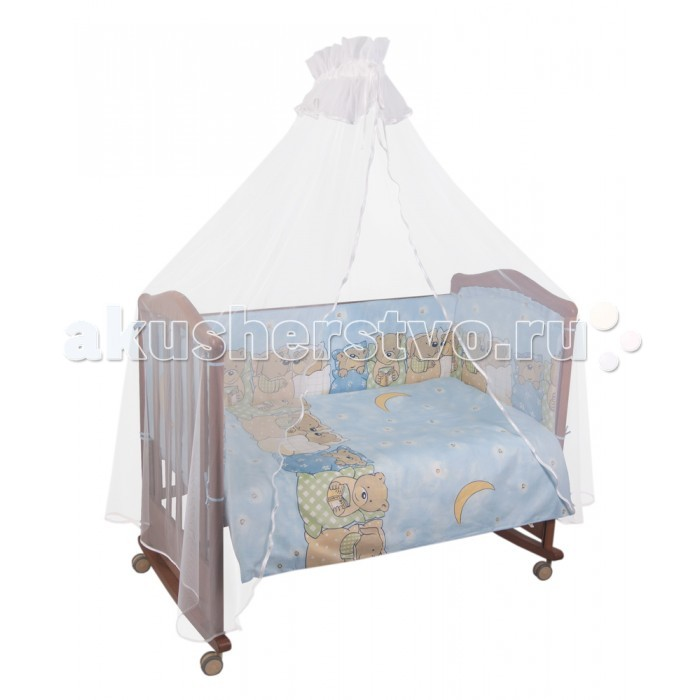Комплект в кроватку Сонный гномик Лежебоки (4 предмета)