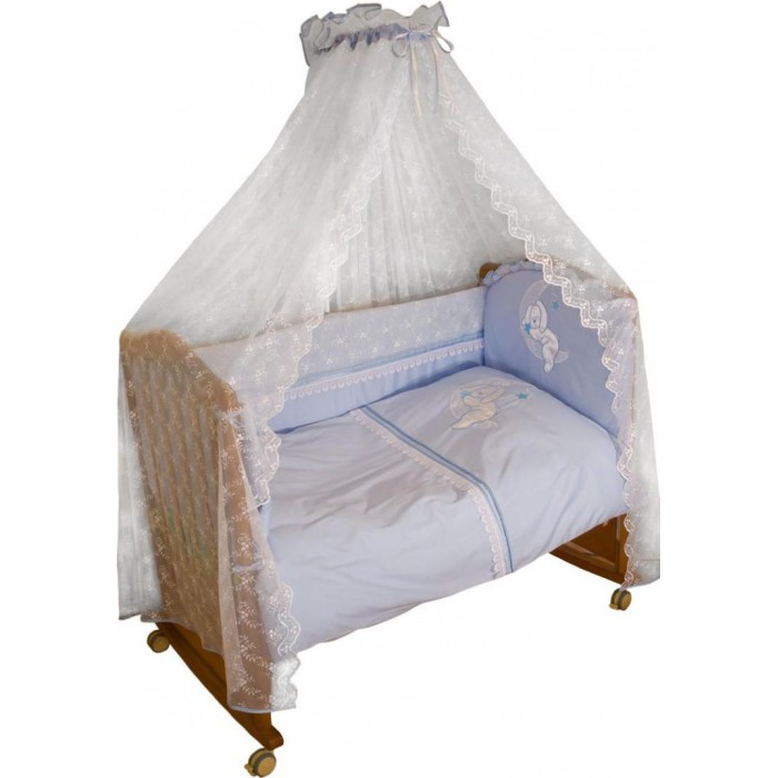 Бампер для кроватки Сонный гномик Лунный зай 120х60