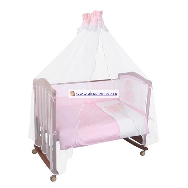 Бампер для кроватки Сонный гномик Мишка в колпачке