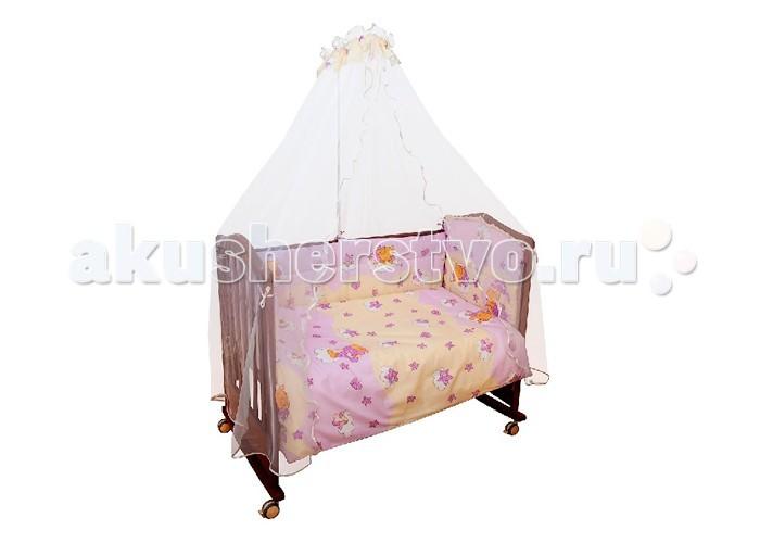 Комплект в кроватку Сонный гномик Мишкин сон (4 предмета)