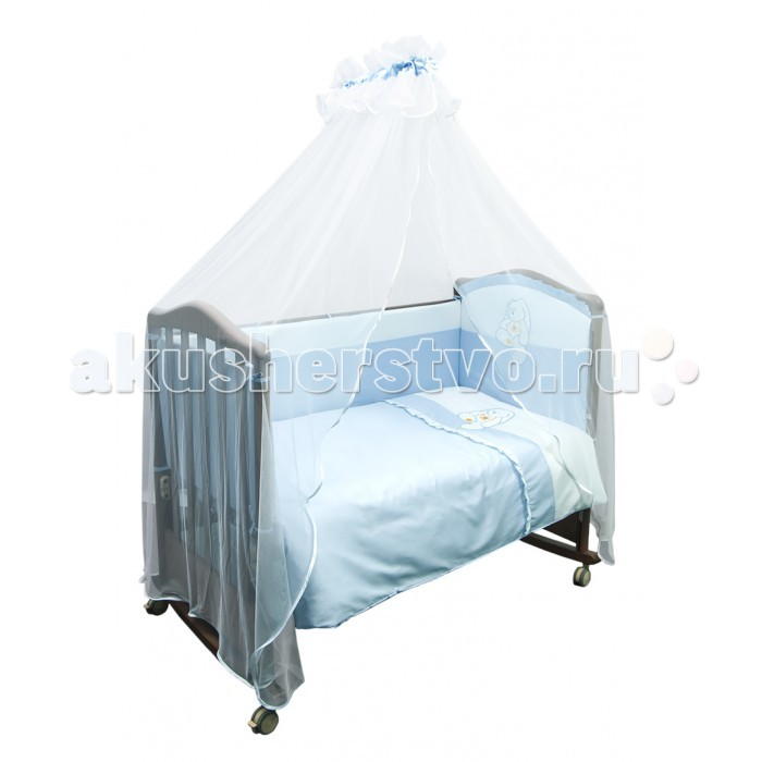 Комплект для кроватки Сонный гномик Пушистик (4 предмета)
