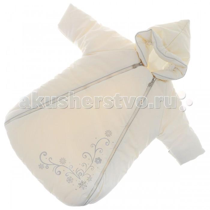 Сонный гномик Зимний конверт с рукавами Снежинка