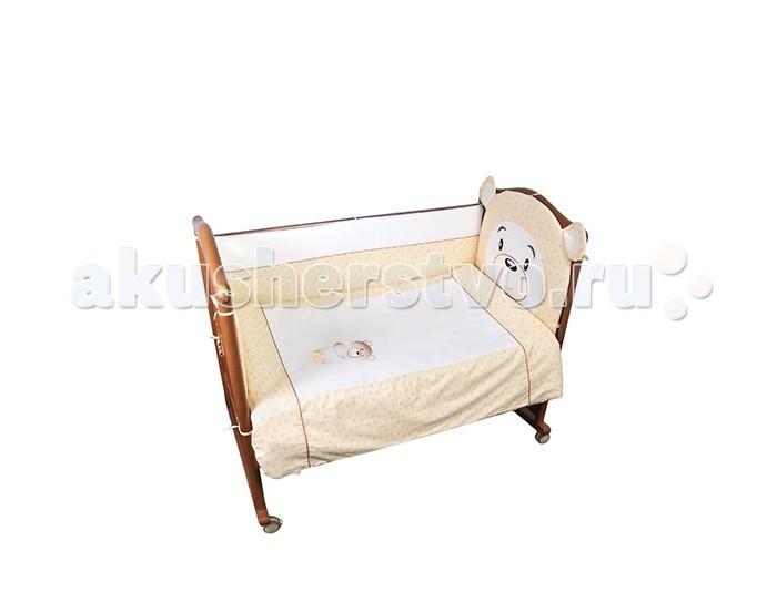 Комплект для кроватки Сонный гномик Умка (4 предмета)Умка (4 предмета)Постельное белье Сонный гномик Умка из 4-х предметов.    Особенности  состав ткани: Ранфорс, 100% хлопок  деликатные швы, которые рассчитаны на прикосновение к нежной коже ребёнка  белье полностью безопасное и гипоаллергенное   В комплекте:   наволочка (40х60 см)  простынь не на резинке (100х140 см)  пододеяльник (110х140 см)  борт из 4 частей (360х38 см)  По составу, ранфорс на 100% состоит из натурального хлопка. Отличается от остальных типов тканей повышенной плотностью. По своей плотности плетения этот материал превосходит бязь. На ощупь ранфорс напоминает бязь. Но если у бязи количество переплетений на один квадратный сантиметр составляет 42 единицы, у ранфорса данный показатель достигает 53, что говорит в первую очередь о более высокой прочности ткани.<br>