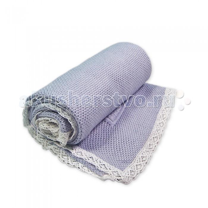 Плед Сонный гномик вязаный Релаксвязаный РелаксНарядный плед вязаный Релакс может быть использован для выписки малыша, для прогулок или просто сна. Отлично в теплое время года.   воздушный, легкий плед из вязаного полотна  плед без утеплителя  украшен рюшами и маленькими бантиками  размеры 90х90 см<br>