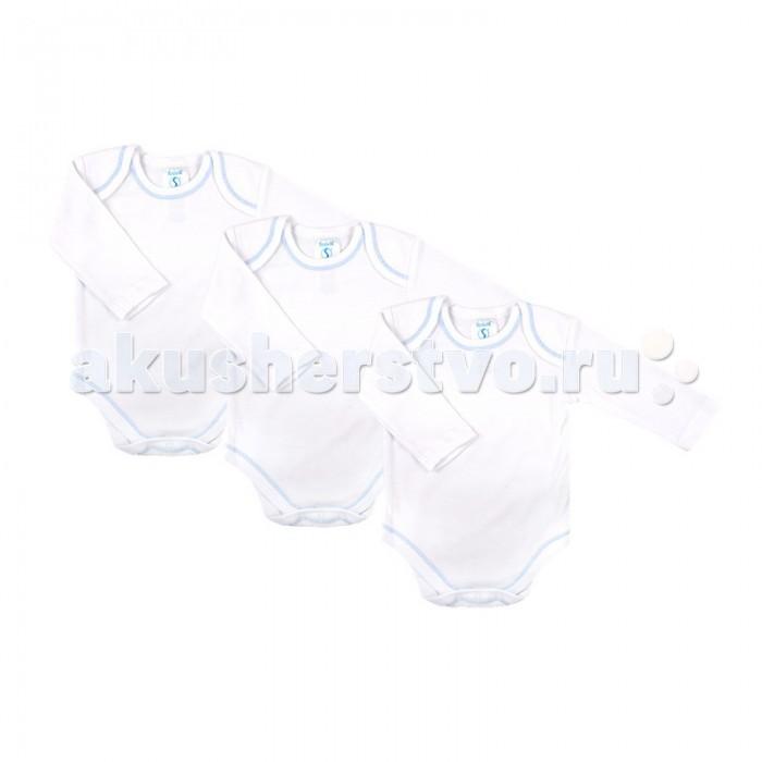 Spasilk Боди для мальчика 3 шт. 3-6 мес.Боди для мальчика 3 шт. 3-6 мес.Spasilk Боди для мальчика с длинным рукавом белого цвета с голубой декоративной строчкой.   Особенности: Боди - универсальная одежда для новорождённого.  Удобные и практичные, боди могут использоваться как в сочетании с другими видами одежды, так и как самостоятельный предмет гардероба.  Интерлок - мягкий хлопчатобумажный трикотажный материал, который не скатывается при стирке, не деформируется, имеет очень приятную для тела фактуру. Размер: 61-67 см<br>