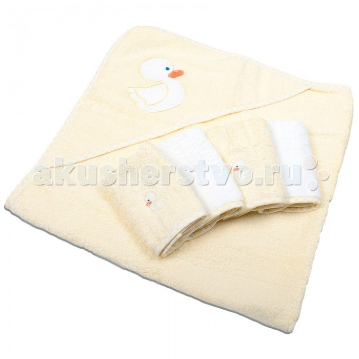 Spasilk Полотенце с капюшоном и 4 салфетки