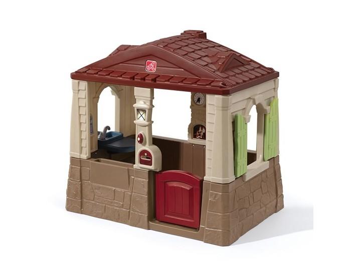 Игровой домик Step 2 Уютный коттеджУютный коттеджИгровой комплекс Уютный коттедж - небольшой домик предназначен для игр; - открытая конструкция позволяет видеть играющих детей; - имитация кухни с краном, конфоркой и столиком; - телефон (батарейки в комплект поставки не входят); - почтовый ящик; - дверной звонок (батарейки в комплект не входят) и имитация фонаря у входа; - прочная конструкция прослужит долгие годы; - при сборке следуйте прилагаемой инструкции;  Размер:  Высота: 118 см Длина: 130 см Ширина: 89 см  Вес: 24 кг  Объем: 0.57 м3    Количество коробок:  1 коробка  Размеры коробки: Высота: 89 см Длина: 310 см Ширина: 49 см<br>