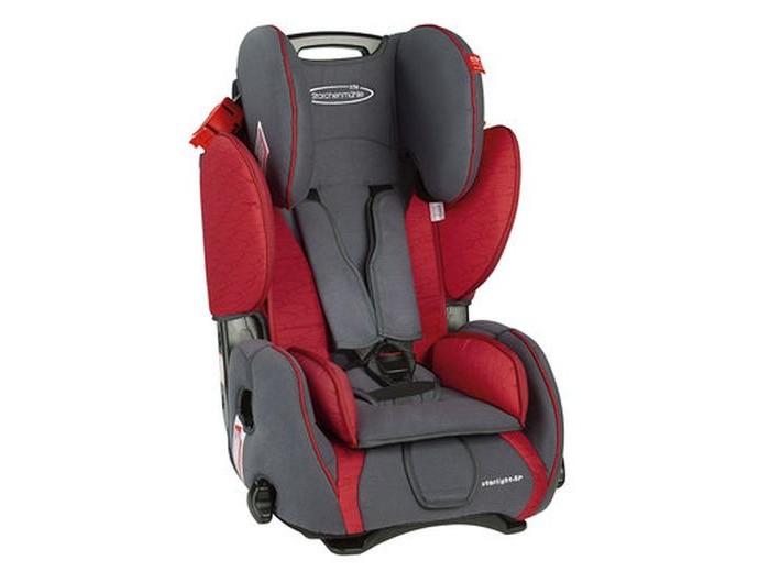 Автокресло STM Starlight SPStarlight SPМаксимальная защита и высокий комфорт для детей от 9 мес. до 12 лет (от 9 до 36 кг), возрастные группы I-III.   Автомобильное кресло STM Starlight SP может удерживать ребенка как при помощи 5-ти точечных ремней безопасности (используются для детей от 9 месяцев до 4-х лет), так и при помощи штатного 3-точечного ремня безопасности автомобиля. Регулируемый подголовник и развитая боковая поддержка со вставками из энергопоглощающего материала защищают ребенка от бокового удара и превосходно удерживают в поворотах.   Ремни безопасности автоматически регулируются по высоте при изменении наклона спинки. С помощью удобной ручки одним движением кресло переводится в положение комфортного отдыха, надежно фиксируясь в данном положении.   Характеристики:  автокресло STM Starlight SP может удерживать ребенка как при помощи 5-ти точечных ремней безопасности, так и при помощи штатного 3-точечного ремня безопасности автомобиля  регулируемый подголовник и развитая боковая поддержка со вставками из  энергопоглощающего материала защищают ребенка от бокового удара и превосходно удерживают в поворотах  ремни безопасности кресла автоматически регулируются по высоте при изменении наклона спинки кресла  с помощью удобной ручки одним движением кресло переводится в положение «комфортного» отдыха, надежно фиксируясь в данном положении  практичная ручка для переноски  соответствует требованиям ECE-R44/04.   Коллекция Lifestyle (цвета graphite-grey, blue, clay-orange) основана на идее повседневного использования автомобильного кресла. Lifestyle - это спортивная элегантность и классические, неустаревающие расцветки. Обивка Lifestyle мягче на ощупь и предпочтительнее для прямого контакта с креслом кожи ребенка.   Коллекция Freestyle (цвета dynamic-red, froggi-king, fairy-rose) - это сочетание моды и функциональности до самых мельчайщих деталей. Навеяна последними модными тенденциями. Дышащие, высокотехнологичные материалы обеспечивают комфорт для Вашего ребенк