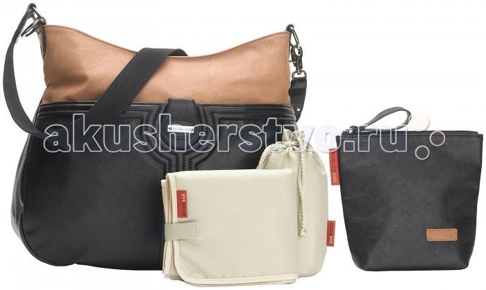 Storksak Сумка для мамы NinaСумка для мамы NinaStorksak Nina - легкая, просторная сумка для мамы с оригинальным модным принтом из прочного полиуретан. Сумка имеет множество карманов и подходит, как для ежедневного пользования, так и для деловых встреч.    длина ремня регулируется - можно носить на плече, так и крепить к коляске материал прочный полиуретан и водостойкой пропиткой, моющаяся подкладка большой внешний карман на магните, семь отдельных внутренних отсеков, включая карман на молнии для ценных вещей мягкий матрасик для пеленания термочехол для бутылочки, сохраняет жидкость теплой/прохладной до 4-х часов дополнительная термосумка пеленальный матрасик  Размеры сумки (шхгхв): 37х12,5х28 см<br>