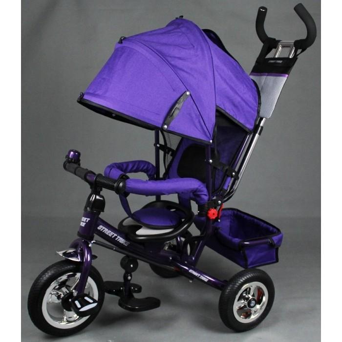 Велосипед трехколесный Street trike A22-1A22-1Велосипед трехколесный Street trike A22-1 с ручкой толкателем и капюшоном.  Особенности: ручка управления движением позволяет родителям одной рукой контролировать поездку и управлять велосипедом; защитный разъёмный поручень; складывающиеся подножки; складывающийся двух сегментный капюшон со смотровым окошком; Спинка с регулировкой угла наклона, 3 положения; удобные не проскальзывающие педали из рифленого пластика; металлическая хромированная ручка; хромированные пластиковые диски; эргономичное и удобное сиденье с мягкой тканевой подушкой; две мягкие подушечки на спинке; возможность блокировки задних колеса; тканевая багажная корзина для вещей и игрушек; стильный звонок; дополнительный кармашек, который крепится на ручке управления;  колеса надувные.<br>
