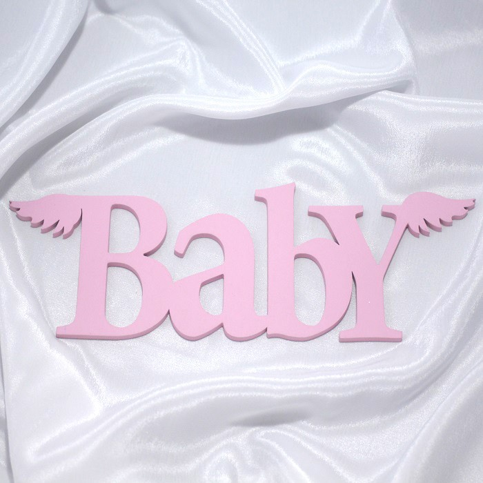 Suvenirrus Декоративное слово Baby с крыльями