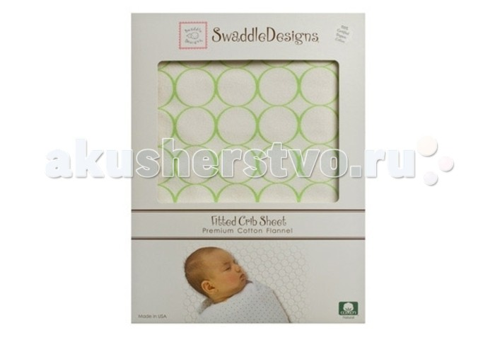 SwaddleDesigns �������� ������� Fitted Crib Sheet Organic 140�70