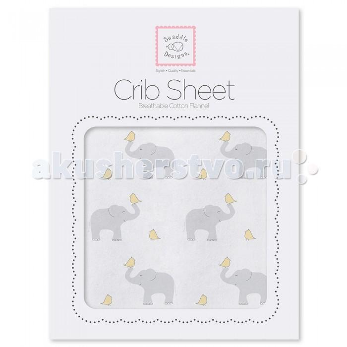 SwaddleDesigns Простынь детская на резинке Fitted Crib Sheet 140х70