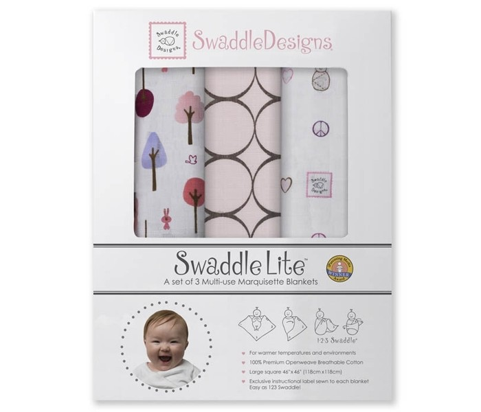 ������� SwaddleDesigns SwaddleLite Cute & Calm �������� 3 ��.
