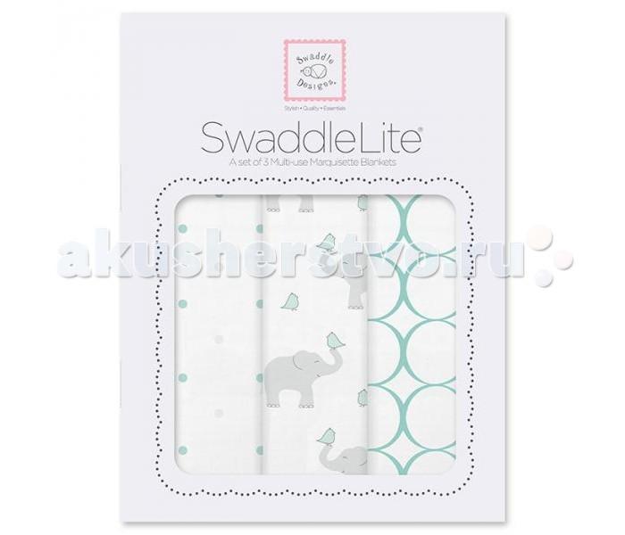 ������� SwaddleDesigns SwaddleLite Elephant/Chickies �������� 3 ��.