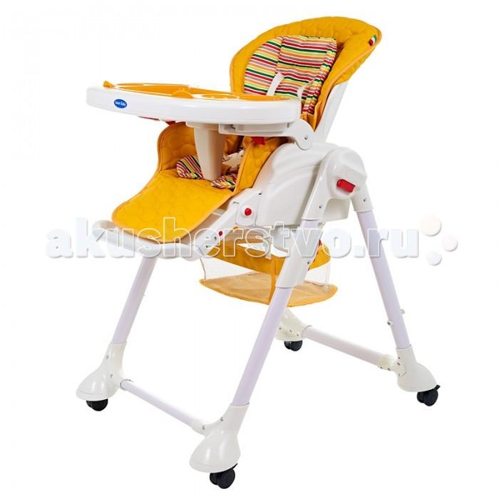 Стульчик для кормления Sweet Baby Luxor StripLuxor StripСтульчик для кормления Sweet Baby Luxor Strip – теперь это не просто стул для кормления, а и колыбель, в которой Ваш малыш сможет прекрасно отдохнуть.   Особенности: Стульчик изготовлен из выcококачественного материала - безопасного пластика Материал накладки на сидение – Экокожа Регулируемый 5-точечный ремень безопасности Легко снимающийся поднос Съемная накладка на поднос 2 углубления для стаканов 3 позиции установки подноса Поднос можно подвесить на задних ножках стула Возможность мойки подноса в посудомоечной машине 3 позиции наклона спинки Максимальный угол наклона-170° Возможность регулирования сиденья на наиболее удобную высоту (максимально 103 см) 5 уровней высоты сидения 3 позиции угла наклона подножки 3 позиции длинны подножки (подножка удлиняется) Съемный чехол Съёмный мягкий вкладыш Кресло оснащено 4-мя легко маневрируемыми колёсиками с тормозами В сложенном состоянии стульчик занимает минимум места Необходимые мелочи и любимые игрушки малыша можно держать под рукой в удобной корзинке  Анатомическая вставка для разделения ног<br>