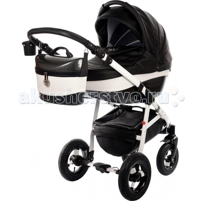 Коляска Tako Baby Heaven Carbon 2 в 1Baby Heaven Carbon 2 в 1Универсальная коляска 2 в 1 Tako Baby Heaven Carbon идеально подойдет для Вашего малыша с рождения и до 3-х летнего возраста. Коляска отличается современным дизайном и функциональностью. Благодаря исключительным конструкционным решениям имеет легкий вес в любой конфигурации. Материал обивки — экокожа (сертифицирована согласно &#214;ko-Tex Standard 100).  Люлька: Материал корпуса — пластик Размеры внутренние (Д х Ш х Г): 84 х 38 х 20 см Вес — 4.5 кг Толстый мягкий матрас Внешняя обивка — экокожа, внутри — 100% хлопок. Внутренняя обивка съемная, крепится на молнию и легко стирается Высота подголовника регулируется снаружи Может использоваться для перевозки в транспорте Большой капюшон с козырьком оснащен вентиляционным окошком, прикрытым антимоскитной сеткой Удобная верхняя ручка для съёма, установки и переноски люльки Боковые ручки  Прогулочный блок: Вес — 5 кг Регулировка высоты спинки в 4-х положениях, включая горизонтальное Подножка обшита эко-кожей и регулируется в 4-х положениях Ремни безопасности с регулировкой по высоте, пятиточечные с мягкими накладками Съемный бампер Большой капюшон с козырьком оснащен вентиляционным окошком, прикрытым антимоскитной сеткой Прогулочный блок укомплектован теплым чехлом на ножки  Шасси: Стильная алюминиевая рама Вес (с колесами) — 8 кг Легко и компактно складывается 2-х ступенчатая регулируемая система амортизации Возможность установки люльки, прогулочного блока и автокресла несколькими движениями Люлька и прогулочный блок устанавливаются в обе стороны движения Большие надувные колеса на подшипниках обеспечивают мягкий ход Центральный тормоз Передние поворотные колеса с фиксацией по ходу движения Регулируемая по высоте ручка Различная ширина передней и задней осей Корзина для покупок  В комплекте: Шасси с колесами Прогулочный блок Люлька Пластиковая термосумка, которую можно вешать на ручку коляски Тёплый чехол на люльку Тёплый чехол для ног на прогулочный блок Корзин