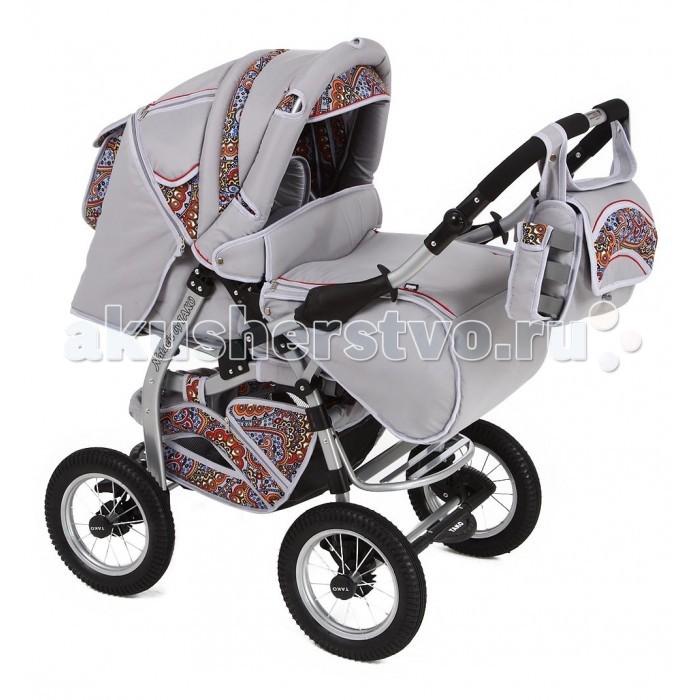 Коляска-трансформер Tako Natalia (надувные колеса)Natalia (надувные колеса)Данная модель коляски предназначена для ребятишек с рождения до 3-х лет. Коляска выполнена в различных ярких оттенках. Колеса - надувные.  Люлька-сиденье:  люлька-переноска с жестким дном  5-ти точечные ремни безопасности с мягкими накладками  регулируемая по высоте спинка  регулируемая подножка  съемный бампер  смотровое окошко  Рама:  колеса надувные  перекидная, регулируемая по высоте ручка  пружинные амортизаторы  алюминиевая лакированная рама  тип сложения: книжка  двойная тормозная система  В комплект входят:  люлька-переноска  прогулочный блок  шасси  сумка для мамы  накидка на ножки  корзина для покупок  бампер<br>