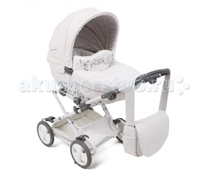 Коляска для куклы Tako SunLine Mini EcoSunLine Mini EcoСтильная, красивая и элегантная коляска от Tako для маленьких модниц.  Материал коляски экокожа.  В капюшоне коляски спряталось маленькое окошко для проветривания.  Внутренняя обивка легко снимается для стирки.  Большая и вместительная сумка имеет кармашки, и дополнительно застегивается на молнию.  Ручка регулируется по высоте от 50 до 70 см.  Высота от пола до капюшона 90 см.  Размеры люльки: 60 см на 30 см.  Под люлькой расположена большая и вместительная корзина, туда поместятся все принадлежности и аксессуары незаменимые для куклы.  Резиновые колеса.  Теперь любимая куколка сможет ездить на прогулки в стильной и красочной коляске со своей хозяйкой!  Коляска прекрасно подходит для игр как на улице, так и дома.  В комплекте: накидка на ножки для маленькой мамы.  Вес: 6 кг.<br>