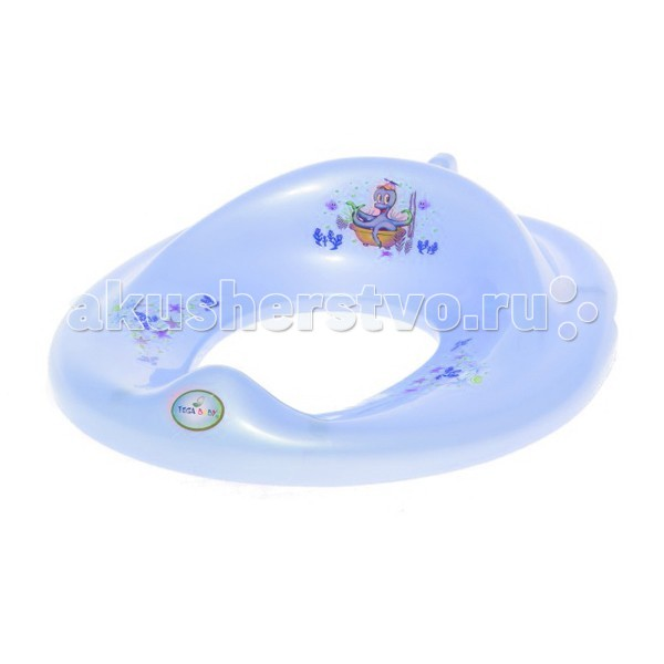 Tega Baby Накладка на унитаз ОсьминогНакладка на унитаз ОсьминогУдобное сиденье для унитаза в нежных тонах с ярким изображением осьминога приучит Вашего малыша к взрослому туалету.  Подходит ко всем стандартным туалетам. Насадка безопасна для детей - она не имеет острых углов и швов. Эргономичный дизайн, удобная спинка и анатомическая форма сиденья создают идеальные условия для комфорта ребенка.  Цвета в ассортименте.<br>
