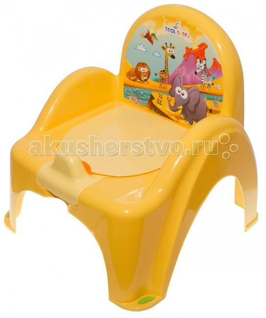 Горшок Tega Baby стульчик Safari музыкальныйстульчик Safari музыкальныйУстойчивый и удобный стульчик сделает процесс приучения ребенка к горшку быстрым и комфортным. Украшен забавными наклейками.  Внутренняя часть горшка легко вынимается и моется отдельно.  Горшок-стульчик имеет эргономичный дизайн, имеются удобные подлокотники.  Материал: нетоксичный пластик.  Особенностью музыкального горшка является встроенный звуковой модуль, который активируется при попадании в горшок влаги. Такой аудио-индикатор поможет родителям узнать о результате, не заглядывая в горшок (не поднимая для этого лишний раз ребенка), а у самого малыша вызовет интерес и желание еще раз повторить туалетную процедуру, чтобы вновь услышать понравившуюся музыку.  Цвета в ассортименте.<br>