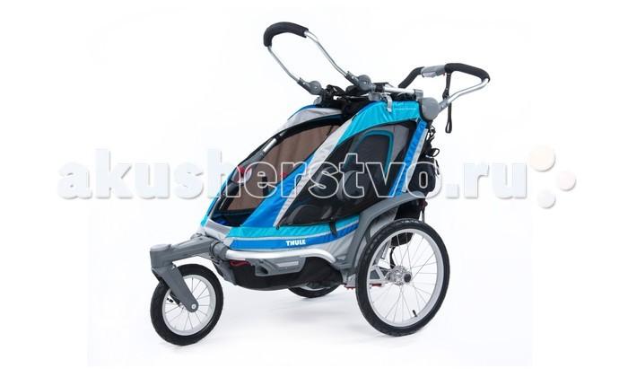 Thule Велоприцеп Chariot Chinook-1Велоприцеп Chariot Chinook-1Мультиспортивный велосипедный прицеп-вездеходная коляска Thule Chariot Chinook — идеальный вариант для прогулок по городу и размеренного образа жизни.  С передним поворотным/стопорным колесом.  Особенности Переднее поворотное/стопорное колесо для прогулок и бега с коляской При креплении к велосипеду переднее колесо можно снять или сложить Среди аксессуаров для детей до года — адаптер для детских автомобильных кресел, багажная сумка, подголовник Возможность легко сложить коляску одной рукой Кресло с отклоняющейся спинкой для удобства ребенка Пятиточечные детские ремни безопасности Регулируемая подвеска для мягкой и ровной езды Полная вентиляция окон для контроля температуры Специальная рейка для крепления аксессуаров Система Click n'Store™ для хранения наборов для переоборудования в колясках  Грузоподъемность - 34 кг Ширина плеча - 48 см Высота посадки - 65 см Размеры в сложенном виде (Д х Ш х В) - 78 x 64 x 39 см<br>