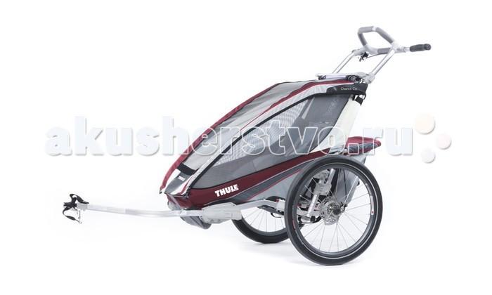 Thule Велоприцеп Chariot CX-1Велоприцеп Chariot CX-1Мультиспортивный велосипедный прицеп-коляска Thule Chariot CX отличается идеальным сочетанием комфорта, стиля и высоких технологий. Это именно то, что нужно молодым семьям, ведущим активный образ жизни.  С набором для крепления к велосипеду.  Особенности Обтекаемый дизайн идеально подходит для различных видов спорта Регулируемая подвеска для мягкой и ровной езды Удобный руль идеально подходит для пробежек Благодаря дисковому тормозу увеличивается контроль за тормозной системой в горной местности Полная вентиляция окон для контроля температуры Съемное мягкое сиденье для удобства ребенка Пятиточечные детские ремни безопасности Специальная рейка для крепления аксессуаров Система Click n'Store™ для хранения наборов для переоборудования в колясках  Грузоподъемность - 34 кг Ширина плеча - 40 см Высота посадки - 65 см Размеры в сложенном виде (Д х Ш х В) - 109 x 61 x 27 см<br>