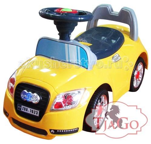 Каталка TjaGo А-6А-6Каталка TjaGo А-6 с музыкальным рулем для детей до 3х лет. Подарит Вашему малышу незабываемое время веселого досуга, а также будет способствовать развитию координации его движений, моторики, ловкости и укреплять мышцы ребенка.   Удобное сиденье, звуковой сигнал на руле – это только часть преимуществ каталки, которые непременно будут по достоинству оценены всеми современными родителями и их обожаемыми чадами.  Характеристики: высококачественный, экологически чистый, прочный и безопасный пластик с элементами металла подходит для детей от 1.5 до 3-х лет надежная и устойчивая конструкция удобное, широкое сиденье, эргономичной формы, с защитным ограждением музыкальный руль, эргономичной формы колеса надежные и устойчивые яркий дизайн  Размер каталки 65х29х38 см.<br>