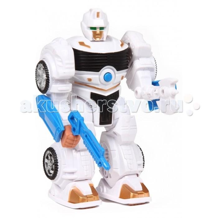 Интерактивная игрушка Tongde Шагающий роботШагающий роботTongde Шагающий робот  Этот шагающий робот, работающий на батарейках, приведет в восторг вашего ребенка. Он оснащен звуковыми элементами. Нажав на кнопку, ребенок может наблюдать за его движениями. При ходьбе робот может двигаться в одном направлении - вперед  Возраст: от 3 лет Тип батареек: 3 х АА<br>