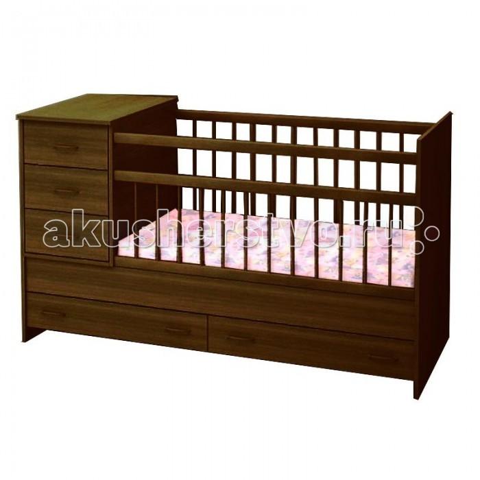 Кроватка-трансформер Топотушки АлисаАлисаУдобная и функциональная детская кроватка-трансформер «Алиса» предназначена для новорожденных детей и используется до 7-10 лет. Высокое качество отделки, сохраняющее природный рисунок дерева. Для окраски применяются лаки, не содержащие вредных для здоровья ребенка веществ.   Особенности:  Кровать изготовлена из натуральной древесины – массив березы (обеспечивает высокую прочность и долговечность изделию)  Обработана экологически чистым и безопасным для здоровья лаком  3 уровня ложа (120х60 + 40х60) Два объемных ящика для удобства хранения детских вещей, постельных принадлежностей, памперсов или игрушек  Тумбочка с тремя ящиками устанавливается справа или слева Опускающаяся боковина Тумба снимается и кровать превращается в подростковую Отсутствие выступающих углов и неровностей, что обеспечивает безопасность для малыша Защитные ПВХ накладки (грызунки)  Внутренние размеры ложа: 120 х 60 см Тумбочка: 40 х 60 см Габаритные размеры: 173 х 65 х 99 см  * К данной кровати необходимо приобрести, кроме основного матраса.- дополнительный блок для кровати трансформер. Начиная использовать кровать (трансформер) как кушетку, необходимо использовать дополнительный блок матраса (40*60).<br>
