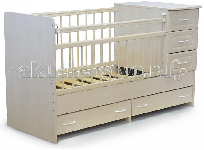 Кроватка-трансформер Бэби Бум Катюша - Белый