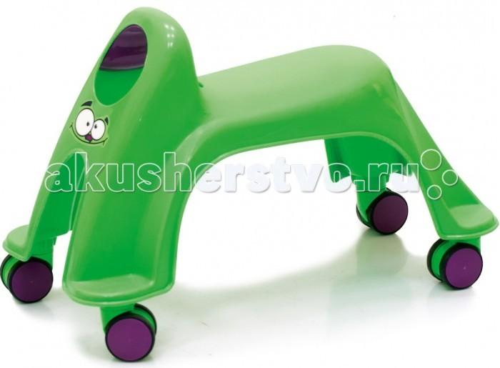 Каталка ToyMonster Smiley Neon WhirleeSmiley Neon WhirleeКаталка Toy Monster Smiley Neon Whirlee - яркая и современна каталка, которая не оставить без внимания вашего непоседу.   Особенности: Максимально безопасна для малыша  У каталки отсутствуют острые углы и твердые травмоопасные детали За счет естественной амортизации пластика малышу будет комфортно перемещаться на каталке. Модель не занимает много места, а ее форма продумана даже для того чтобы можно было компактно хранить несколько штук пирамидкой.  Характеристика:  Материал: высококачественный нетоксичный пластик, прорезиненные колеса. Размеры игрушки: 44*29*22 см. Размер сиденья: 14х20 см. Возраст: от 12 месяцев.<br>