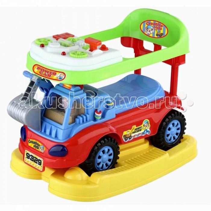 Каталка Toysmax Экскаватор 3 в 1Экскаватор 3 в 1Каталка 3 в 1 Toysmax Экскаватор многофункциональная игрушка, которая позволит ребенку развить координацию движений и провести время за интересной игрой, а также почувствовать себя настоящим водителем.  Характеристики:  Каталка имеет устойчивую конструкцию Высокая спинка, за которую малыш может держаться при ходьбе Вместительный багажник под сиденьем Свето-музыкальные эффекты Легкое движение вперед и назад Вместительный багажник под сиденьем На руле кнопка звукового сигнала-пищалки Колеса с поворотом на 90 градусов. Размер: 58&#215;37&#215;49 см  Вес: 5 кг  Возраст: от 3  до 6 лет<br>