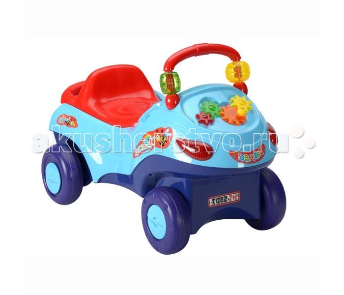 Каталка Toysmax МарсоходМарсоходКаталка Toysmax Марсоход многофункциональная игрушка, которая позволит ребенку развить координацию движений и провести время за интересной игрой, а также почувствовать себя настоящим водителем.  Характеристики:  Каталка имеет устойчивую конструкцию. Высокая спинка, за которую малыш может держаться при ходьбе. Вместительный багажник под сиденьем. Съеменая ручка-толкатель. Корзина для игрушек. Ремень безопасности. Подставка для ножек. Свето-музыкальные эффекты. Легкое движение вперед и назад. Колеса с поворотом на 90 градусов.  Размер: 66.5&#215;43&#215;81 см  Вес: 3,36 кг  Возраст: от 3 до 6 лет<br>