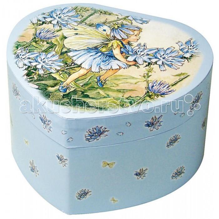 Trousselier Музыкальная шкатулка в форме сердца Flower FairiesМузыкальная шкатулка в форме сердца Flower FairiesКрасивая музыкальная шкатулка Flower Fairies с отделениями для хранения драгоценностей и крутящейся под музыку фигуркой феи.  Выполненная из дерева, имеет небольшое зеркальце внутри.   Каждая девочка будет в восторге! Не забываемый подарок на день рождения!   Когда шкатулка открывается, играет приятная мелодия: для шкатулки Fairy Daisy - LOVE STORY - F. LAI для шкатулки Fairy Red Daisy - INVITATION TO THE DANCE - C. VON WEBER для шкатулки Fairy Carnations - BLUE DANUBE - BEAU DANUBE BLEU - STRAUSS  Размер: 15 х 15 х 8.6 см  Поставляется в подарочной коробке Trousselier.   Французский бренд Trousselier вот уже более 40 лет создает уникальные коллекции детских игрушек, товаров для дома и интерьера. Вся продукция изготовлена из натуральных материалов с соблюдением высоких европейских стандартов качества.<br>
