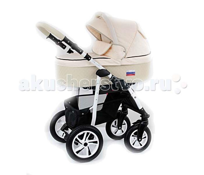Коляска Tutic Patriot 2 в 1Patriot 2 в 1Детская коляска Tutic Patriot 2 в 1 выполнена из самых качественных материалов, безопасных для здоровья малышей.  Шасси коляски Tutic Patriot выполнены из легкого алюминия на надувных колесах с подшипниками против скольжения.  Передние колеса имеют меньший диаметр, чем задние и оснащены функцией поворота и фиксирования.   Диски колес вписываются в общий цветовой дизайн коляски Patriot.  Удобная педаль центрального тормоза, легко блокируются оба задних колеса.   Ручка рамы плавно регулируется и надежно фиксируется на нужном уровне высоты. Ее рукоять обшита высокопрочной эко - кожей.  Просторная углубленная корзина для покупок с удобным наклоном и расположением, крепится на прочные заклепки и легко снимается для стирки.  Люлька Tutic Patriot с высокими бортами, имеет хорошую ширину.  В ее днище расположен регулируемый подголовник.  Внутренняя обивка выполнена из натурального хлопка.  Бесшумно регулирующийся капюшон коляски, оснащен окошком для вентиляции и ручкой для переноски люльки.  Все функциональные детали практично встроены в дизайн и ткань капюшон.  Прогулочный модуль Tutic Patriot входит в данную комплектацию.  Он снабжен 4-х ступенчатой регулировкой наклона спинки, регулирующийся подставкой для ножек, предохранительным бампером, с регулировкой высоты установки.   Прогулочный модуль Tutic Patriot, предусматривает установку по направлению движения.  Для полной безопасности малыша, внутренняя часть прогулочного блока дополняется специальным матрасиком на сидение и 5-ти точечными ремнями безопасности.  Вместе с тремя модулями в комплект детской коляски Tutic Patriot входит: чехол на ножки, практическая сумка для мамы, дождевик и москитная сетка.<br>