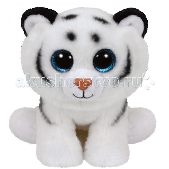 Мягкая игрушка TY Beanie Babies Тигренок Tundra 20 смBeanie Babies Тигренок Tundra 20 смTY Beanie Babies Тигренок Tundra 20 см 42106  Тигренок по имени Тундра — не обычный тигр, он белый! Такие тигры — редкие, но и красивые звери. У них белая шерсть в черную полоску и голубые глаза. Все, как и у Тундры!  Родился он 29 ноября, а открыв его книжечку-этикетку, вы прочитаете следующий стишок: My friends think that I am very majestic I agree but dont ever call me domestic! (Величественен я по мнению друзей, Согласен, но домашним зверем звать меня не смей).  Высота игрушки: 20 см.<br>
