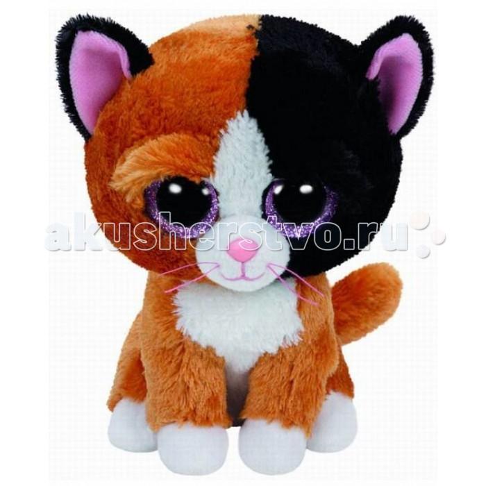 Мягкая игрушка TY Beanie Boos Котенок TauriBeanie Boos Котенок TauriTY Beanie Boos Котенок Tauri   Очаровательный котенок по имени Tauri станет замечательным подарком любому малышу или очаровательной юной леди. Котенок одет в мягкую коричневую шубку, у него темные ушки, а на лапках белые носочки. Его огромные глазки с цветной радужной оболочкой смотрят весело и задорно. Котенка можно взять с собой на прогулку. А если игрушка испачкается, ее можно постирать и она станет как новая.<br>
