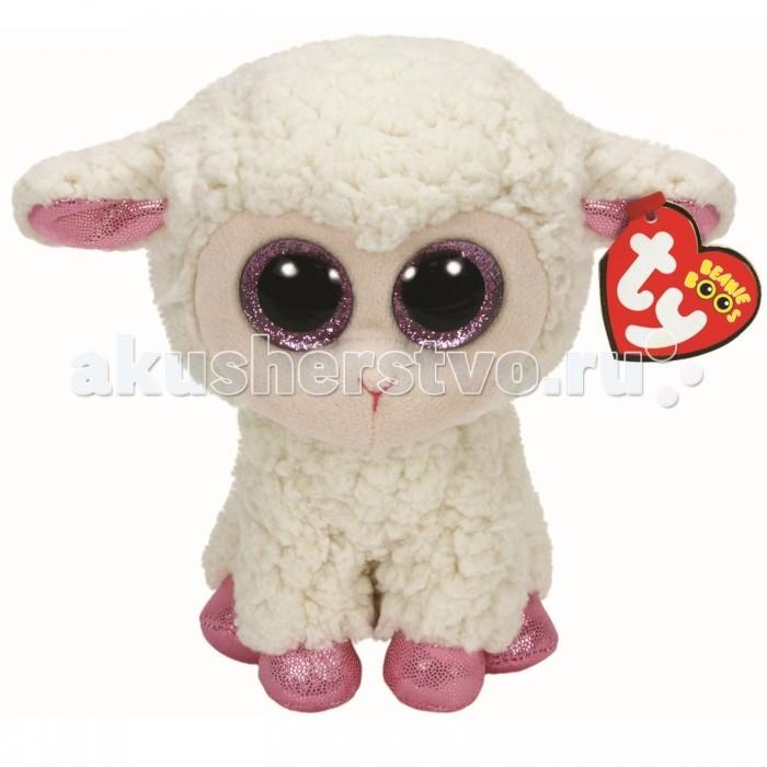Мягкая игрушка TY Beanie Boo's Овечка белая с розовыми копытцами