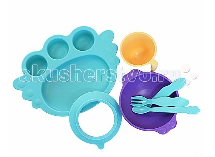 Uinlui Набор детской посуды Ангел 7 предметовНабор детской посуды Ангел 7 предметовUinlui Набор детской посуды Ангел 7 предметов изготовлен из экологически чистого сырья, и является безопасным для эндокринной системы.  Особенности: Детская посуда, изготовленная из сахарного тростника, представляет собой экологически чистую  и как следствие абсолютно безопасную для здоровья малышей продукцию. Красочные чашки, кружки, тарелочки и столовые приборы сделают кормление малыша не только веселым и приятным, но и безопасным.  Посуда не бьется, не имеет острых углов. Ее можно замораживать, кипятить, мыть в посудомоечной машине, использовать в микроволновой печи.  Выдерживает температуру от 120 до -20 градусов.  Форма и размер посуды разработаны специально для малышей с учетом их потребностей и особенностей питания. Наборы разной комплектации позволяют выбрать только необходимые именно вам приборы.  В Наборе: 3 столовых прибора, кружку, BABY Ангел тарелочка+подставка-присоска, большая мисочка (300 мл),<br>