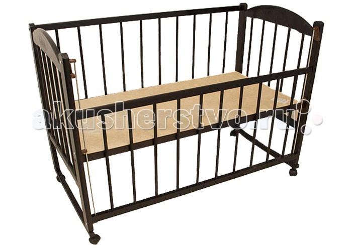 Детская кроватка Уренский Леспромхоз Заюшка 3-4 (колесо-качалка) с автостенкой
