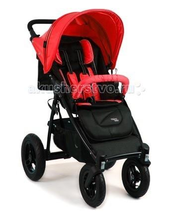 Прогулочная коляска Valco baby Quad ХQuad ХValco Baby Quad X – это коляска, сконструированная на базе модели Tri Mode, которая прославилась своей непоколебимой надежностью и прочностью конструкции. Специалисты компании Valco Baby оснастили модель Quad X четырьмя надувными колесами увеличенного диаметра, которые способны с легкостью преодолевать любые препятствия. Мягкая амортизирующая подвеска способна сгладить все неровности, которые могут встретиться на Вашем пути, обеспечивая ребенку максимальный комфорт во время прогулки на коляске Valco Baby Quad X!  Модель Quad X имеет прочную и легкую конструкцию, выдерживающую нагрузку до 20 кг, и компактно складывается для удобства хранения или транспортировки. Благодаря регулировки спинки и подножки до лежачего положения коляску можно использовать с самого рождения.   Очень глубокий капюшон EXpanda Hood предназначен для обеспечения максимальной защиты от солнечного света или ненастной погоды. Капюшон имеет 4 секции, одна из которых обтянута москитной сеткой с защитой от ультрафиолета для обеспечения вентиляции воздуха в жаркие дни.  Модель Quad X имеет прочную и легкую конструкцию, выдерживающую нагрузку до 20 кг, и компактно складывается для удобства хранения или транспортировки. Благодаря регулировки спинки и подножки до лежачего положения коляску можно использовать с самого рождения.   Характеристики:   легкая и прочная конструкция рамы; большие надувные колеса повышенной проходимости; уникальная система вращения передних колес с функцией блокировки для движения вперед/назад; задние колеса могут быть с легкость удалены нажатием на кнопку, что делает модель Quad X идеальной для путешествий; ножной тормоз отмечен красным цветом в соответствии с австралийскими стандартами; «чистое» складывание (сидением внутрь) позволяет защитить внутреннюю обшивку коляску от загрязнений; компактные размеры в сложенном виде; автоматическая блокировка от случайного раскладывания коляски в сложенном виде; очень глубокий капюшон EXpanda Hoodп