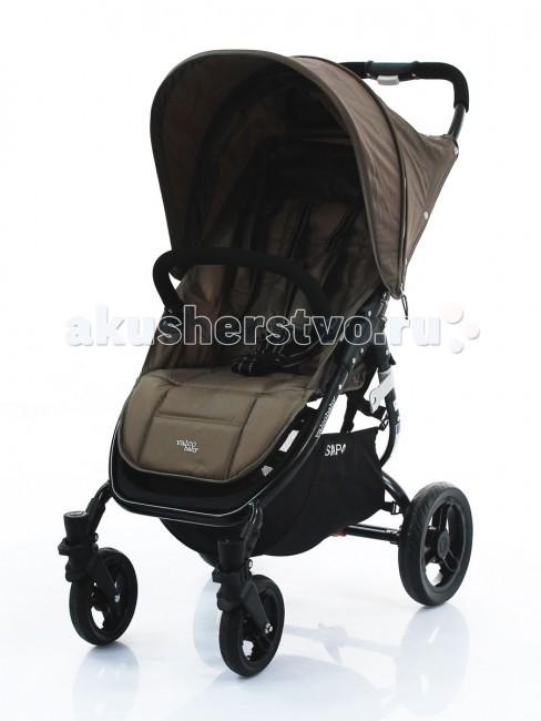 Прогулочная коляска Valco baby Snap 4Snap 4Valco Baby Snap 4 — прогулочная коляска, удобная и легкая — весит всего 6,6 кг. Складывается очень легко и не занимает много места.   Snap 4 идеально использовать с 6 месяцев, спинка полностью опускается до положения лежа, большой капюшон увеличивается с помощью молнии и хорошо закрывает ребенка от солнца или непогоды.  Особенности:  Спинки регулируется бесшумно и плавно на ремнях до 180 градусов; В сложенном виде колеса не пачкают сиденье; Посадочное место очень широкое — 34 см; Капюшон увеличивается на молнии, с большим смотровым окошечком; Колеса резиновые бескамерные; Максимальная нагрузка на коляску — 20 кг; При нажатии на педаль тормоза не пачкается верхняя часть обуви. Диаметр колес: передние 16 см, задние 26 см. Тип колес: плотная резина Поворотные передние колеса: есть Ширина колесной базы - 55 см. Размеры ДхШхВ: 97 x 52 x 104 см, сиденье: Ш 34 x Г 22 x В 48 см. Размеры в собранном виде ДхШхВ: 78 x 52.5 x 31 см.<br>