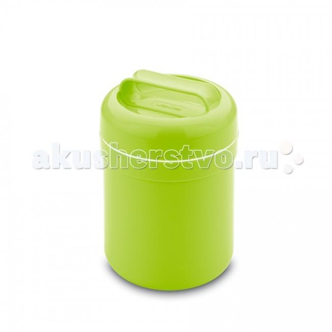Термос Valira для еды Thermic Food 0.5 лдля еды Thermic Food 0.5 лКонтейнер-термос для еды Thermic Food 0.5 л  Удобный, легкий термический контейнер для еды. Отлично сохраняет сохраняет температуру пищи до 6 часов.   Походит для ежедневного применения как на работе, в школе, так и на отдыхе. Если нет возможности разогреть или сохранить температуру чая, кофе, молока и т.д., этот термос будет вашим незаменимым помощником.   Снаружи термос изготовлен из цветного пластика, что очень радует глаз. Внутри стеклянная колба. А как известно, стекло хранит тепло и холод лучше всех других материалов.   Контейнер герметично закрывается, не проливается даже при сильной вибрации. Оснащен удобной крышечкой и ручкой для переноски.<br>