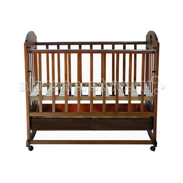 Детская кроватка Ведрусс Иришка №2 (качалка) - Темный орех