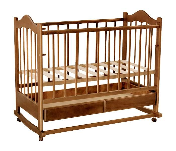 Детская кроватка Ведрусс Кира №1 (качалка) - Вишня